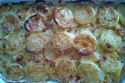 Schnelles saftiges Kartoffel - Pilz - Gratin 2