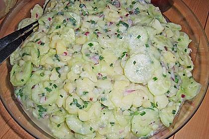 Bayrischer Kartoffelsalat mit Gurke 6