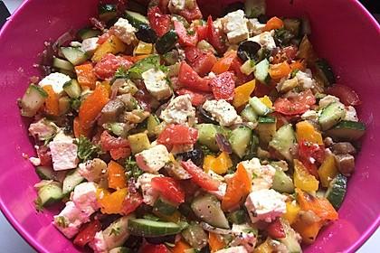 Griechischer Salat mit Schafkäse 1