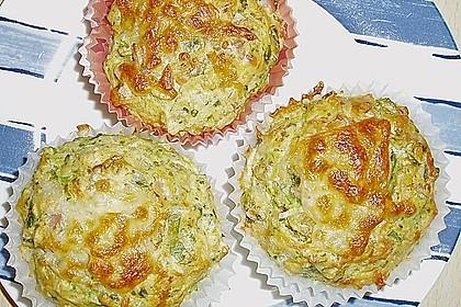 Lauch - Schinken - Muffins 1