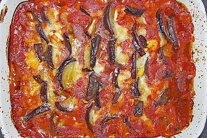 Auberginenauflauf mit Mozzarella 2