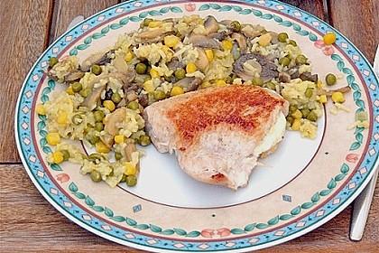 Gefüllte Hähnchenbrust mit Gemüsereis 1