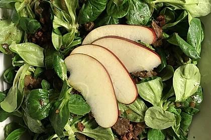 Feldsalat mit Leber und Speck 8