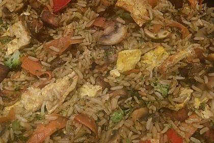 Gebratener Reis mit Tofu und Ei 4