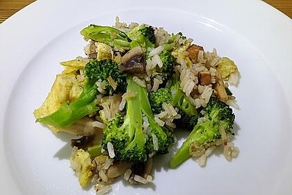 Gebratener Reis mit Tofu und Ei 1
