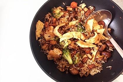 Gebratener Reis mit Tofu und Ei 3