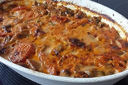 Kartoffel-Pilzpfanne in Tomatenweißweinsauce 2