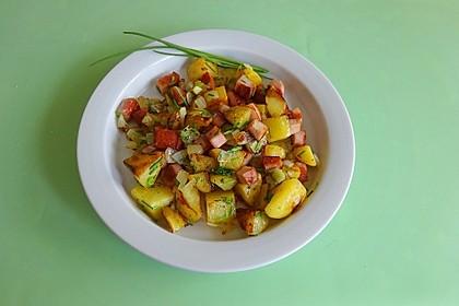 Deftige Kartoffel-Fleischkäse Pfanne (Bild)