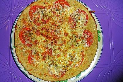 Hafer-Pfannenpizza nach Margherita Art