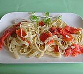 Spaghetti mit Räucherlachs und Cognac (Bild)
