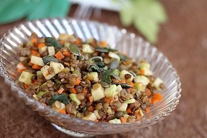 Belugalinsen-Salat mit Kürbiskernöl-Dressing 1