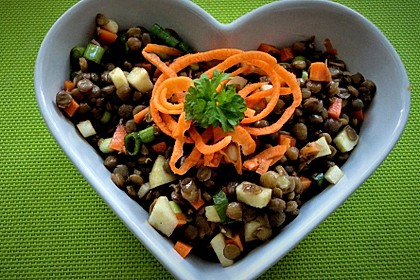 Belugalinsen-Salat mit Kürbiskernöl-Dressing 2