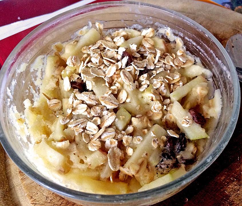 Apfel Haferflocken Mikrowellen Tassenkuchen Von Si22 Chefkoch De