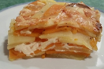 Süßkartoffel-Kartoffelgratin