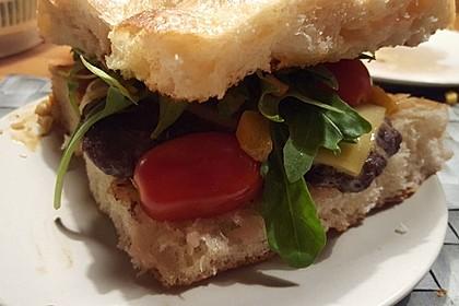 Rotwein-Burger vom Grill