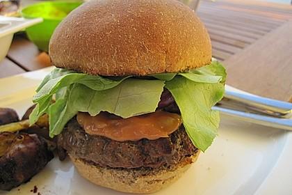 Rotwein-Burger vom Grill 1