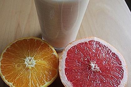 Orangen Grapefruit Buttermilch Smoothie 2