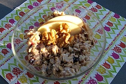 Overnight Oats Apfel-Walnuss-Cranberry mit Reis-Kokosmilch (Bild)