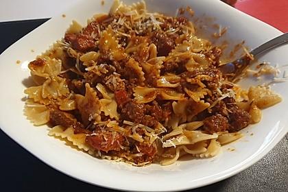 Spaghetti mit Chorizo-Bolognese à la Bahgira 1