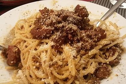 Spaghetti mit Chorizo-Bolognese à la Bahgira 2
