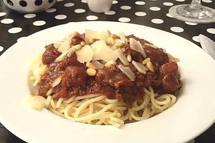Spaghetti mit Chorizo-Bolognese à la Bahgira
