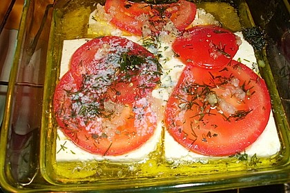 Gegrillter Fetakäse mit Tomaten 1