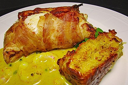 Fischroulade im Baconmantel