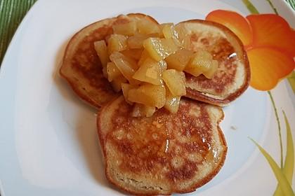 Vegane Protein-Apfel-Pfannkuchen