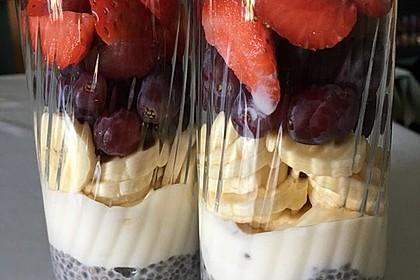 Chiapudding mit Vanillejoghurt (Bild)