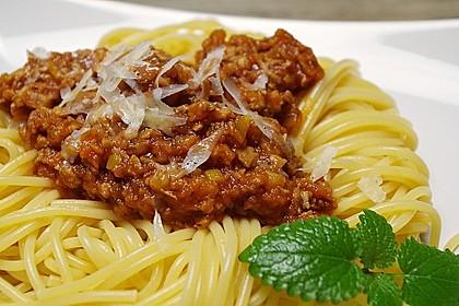 Sauce Bolognese mit Sojageschnetzeltem