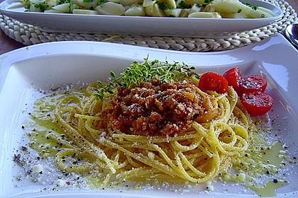 Sauce Bolognese mit Sojageschnetzeltem 1