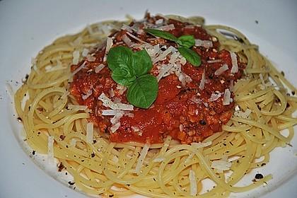Sauce Bolognese mit Sojageschnetzeltem 7