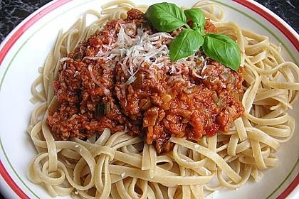 Sauce Bolognese mit Sojageschnetzeltem 5