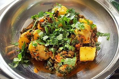 Spinat-Kartoffel-Curry