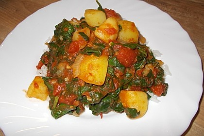 Spinat-Kartoffel-Curry 1