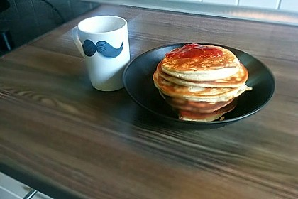 Protein-Pancakes mit Himbeeren 4