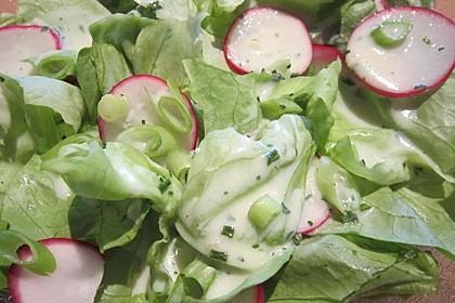 Frühlingshafter Kopfsalat mit Radieschen