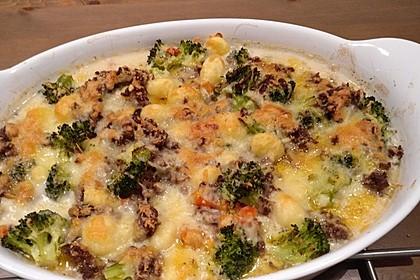 Gnocchi-Gemüseauflauf mit Hackfleischsoße 2