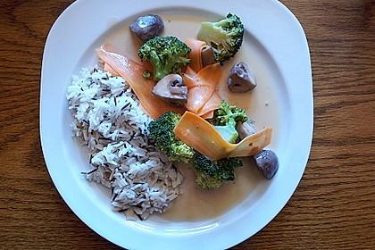 Schnelles Wokgemüse mit Wildreis
