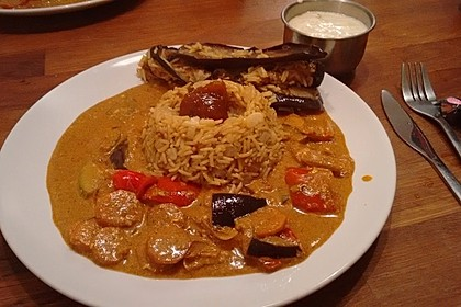 Indisches Gemüsecurry mit Basmatireis