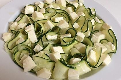 Zitroniger Zucchini- Mozzarella Salat