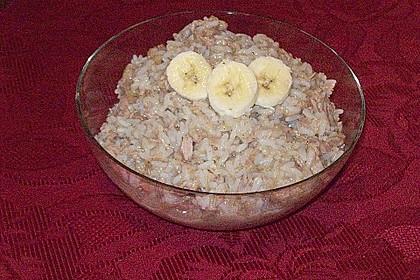 Reissalat mit Thunfisch und Bananen