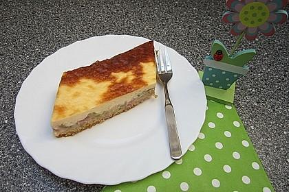 Rhabarberkuchen mit Puddingguss (Bild)