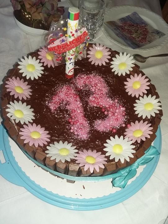 Erdbeer Schoko Torte Zum Geburtstag Von Cookingisa Chefkoch De