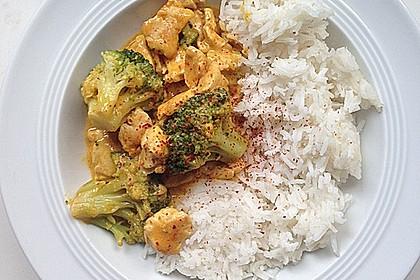 Thai-Curry-Hühnchen mit Brokkoli 2
