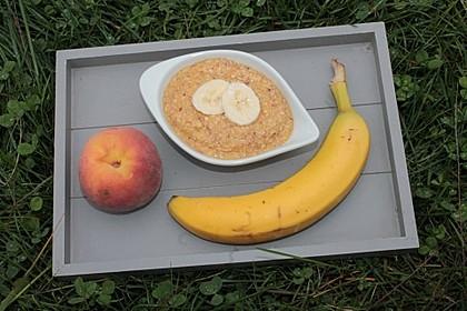 Bananen-Pfirsich-Brei