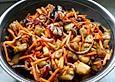 Auberginen-Möhren Salat