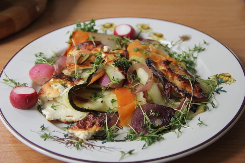 Vegetarische Sommerküche Rezepte : Vegetarisches frühlingspfännchen mit feta käse von jodka sour