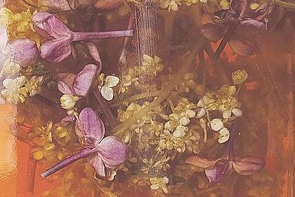 Blütenessig mit Flieder und Holunder