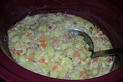 Kartoffel-Senf-Topf aus dem Slow Cooker
